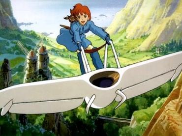 Nausicaä on her glider