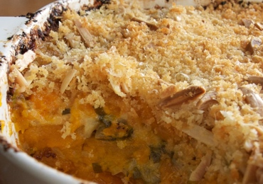 winter squash gratin with leeks