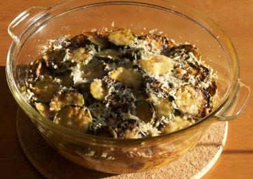 zucchini and rice gratin