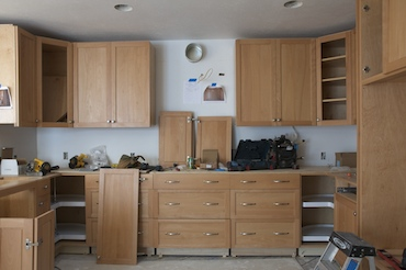 cabinets with some hardware