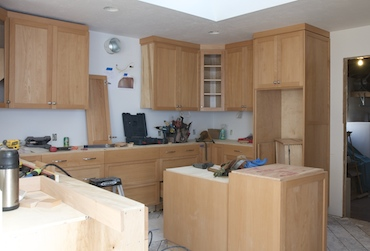 cabinets with some crown moulding