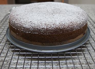 elderflower cake dusted with powdered sugar