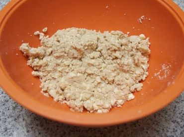 Pastry dough in bowl