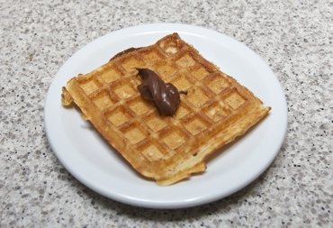 waffles with a dab of not-nutella