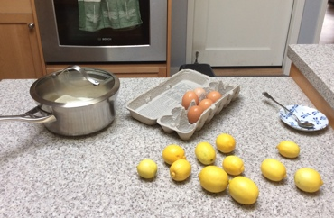 Prepping to make vanilla lime curd