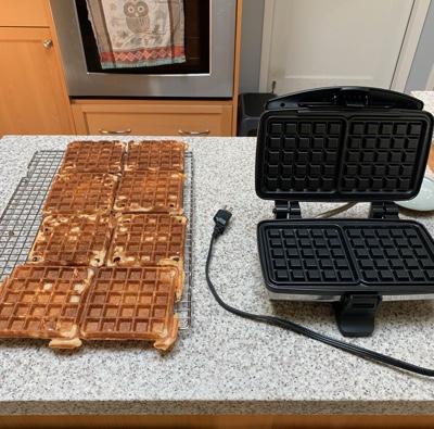 Leftover sourdough waffles *urp*